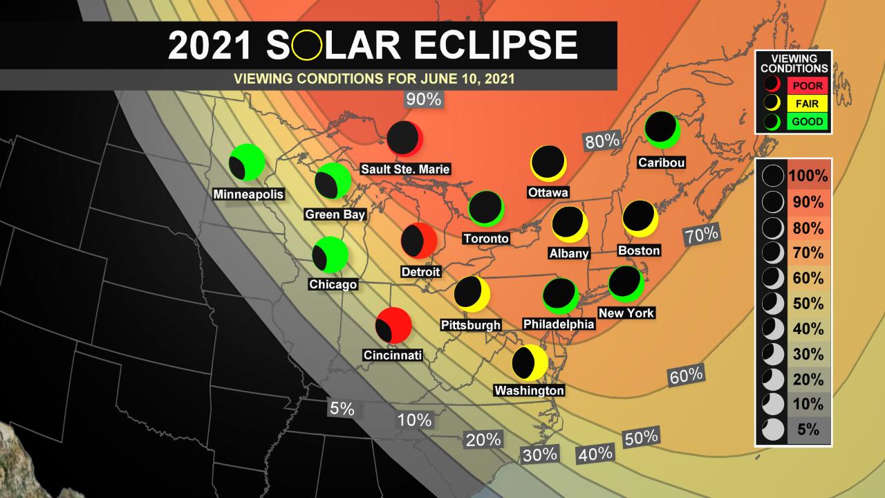 "Canada ""Ring of Fire"" - Partial Solar Eclipse for NE U.S."