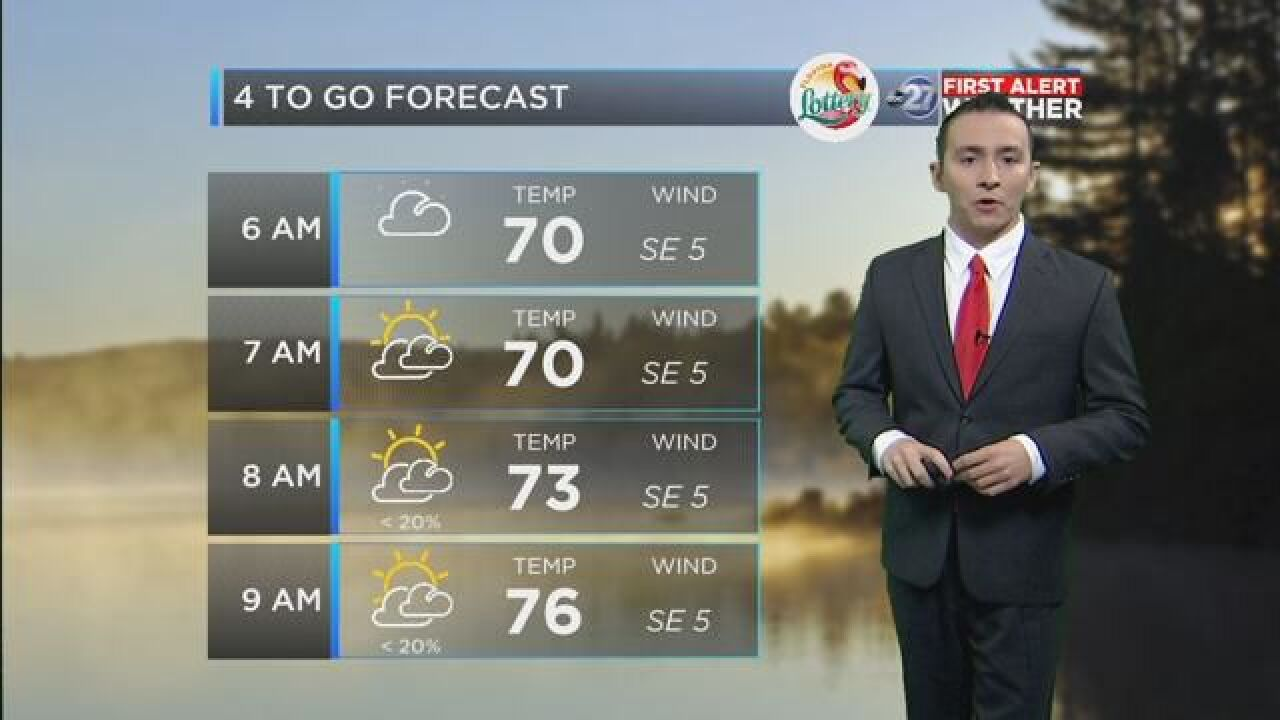 First Alert 4-to-Go Forecast: May 25, 2018