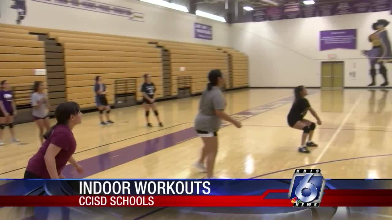 Indoor workouts begin for CCISD volleyball players