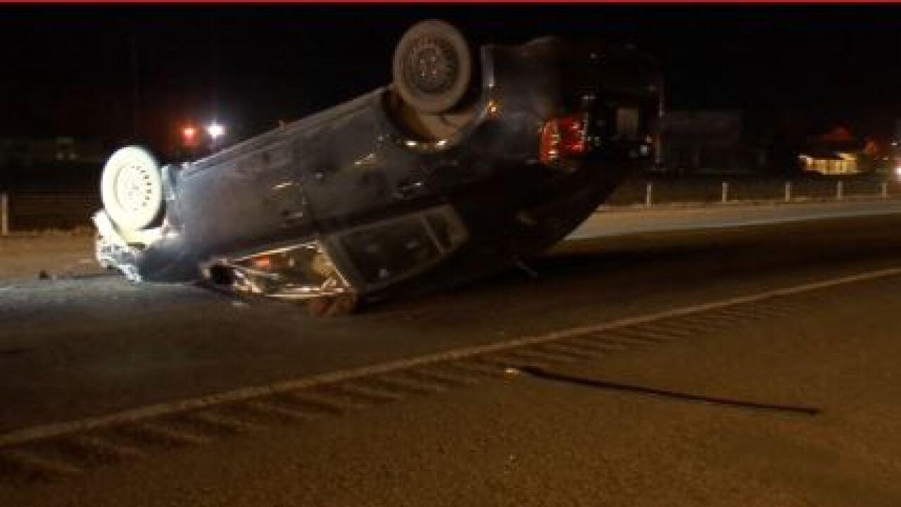 Rollover crash on I-90 Westbound
