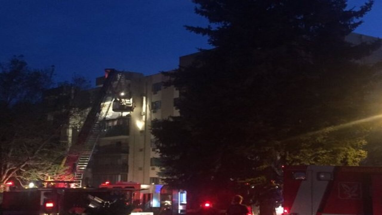 Two injured in a high rise fire, Saturday