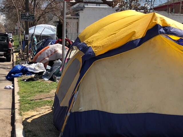 Tent City in Curtis Park