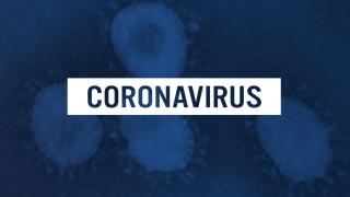 Coronavirus blue background