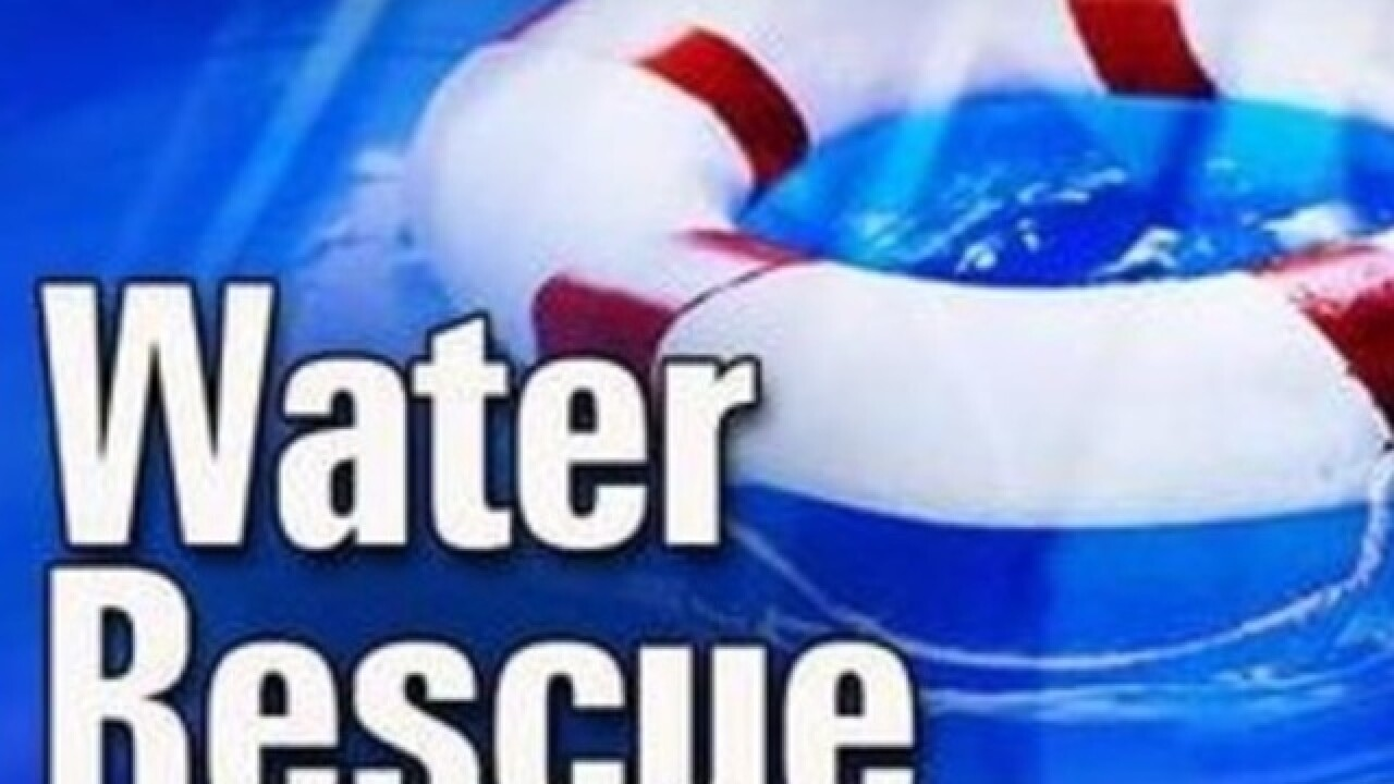 One person rescued from water