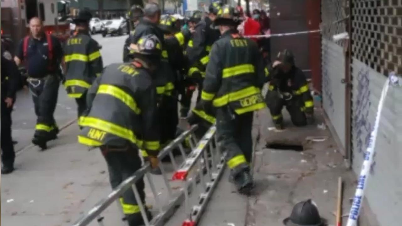 bronx sidewalk collapse