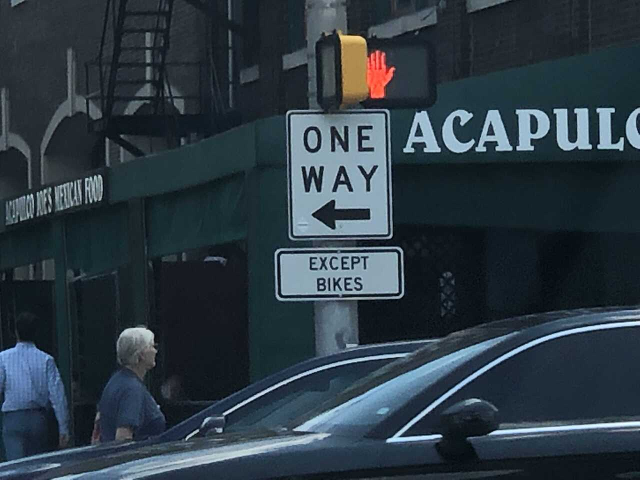 One Way Except Bikes Sign.jpg