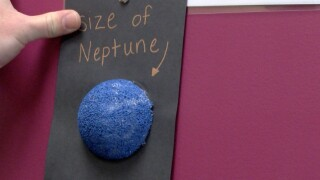 Student makes Butte-sized solar system model