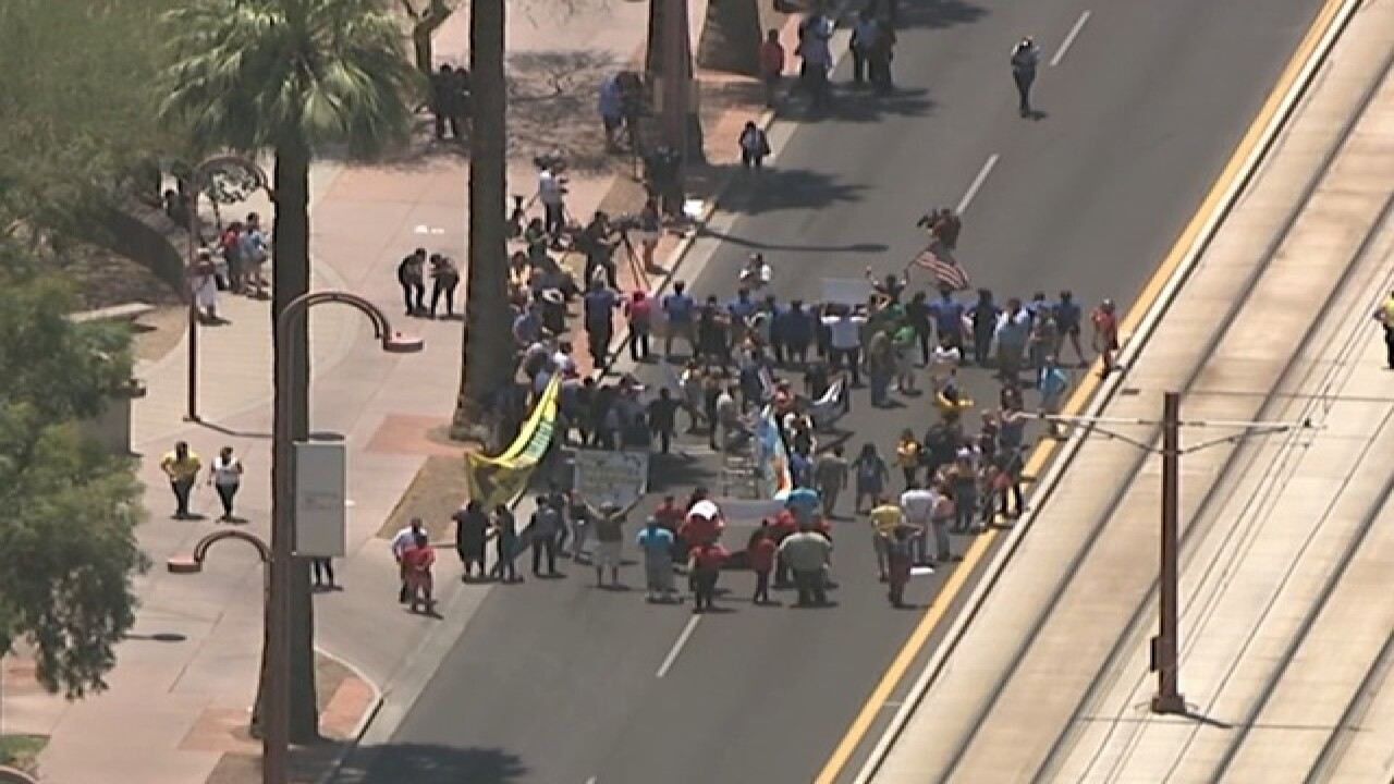 Immigration protest erupts in Phoenix