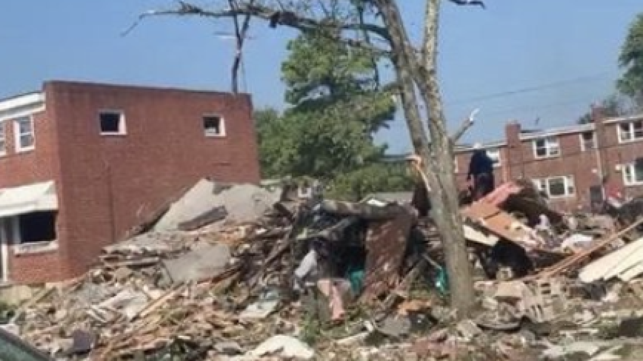 NW Baltimore home explosions