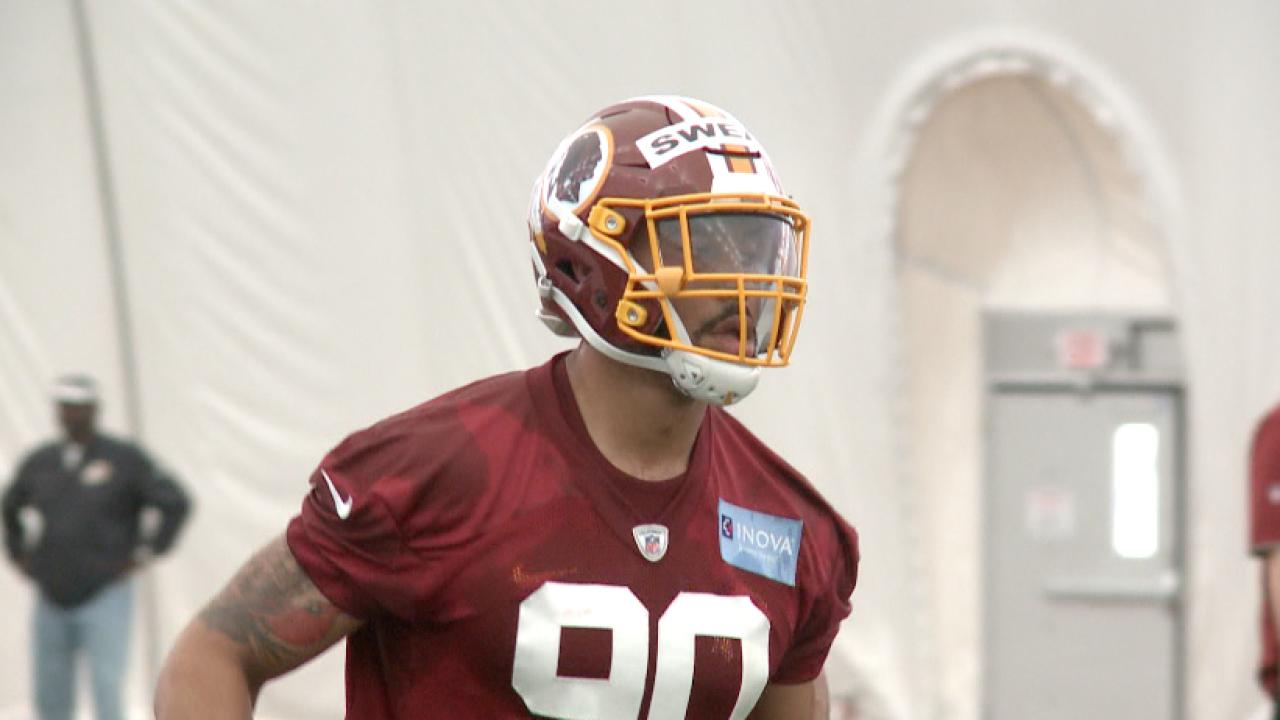 No Sweat: Redskins rookie Montez Sweat draws minicamp praise from JayGruden