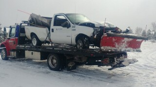 D20 Snow Plow Crash