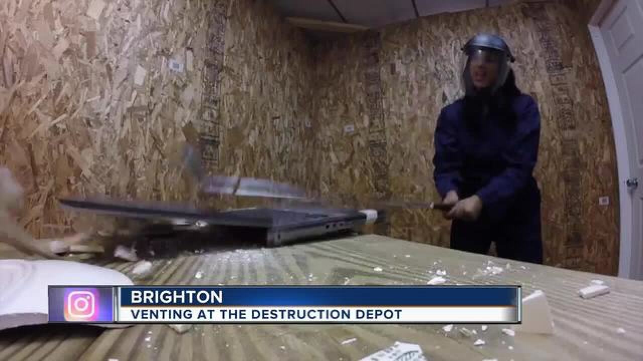 Let out your rage at Destruction Depot