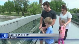 """""""Padlocks of Love"""" in Great Falls"""