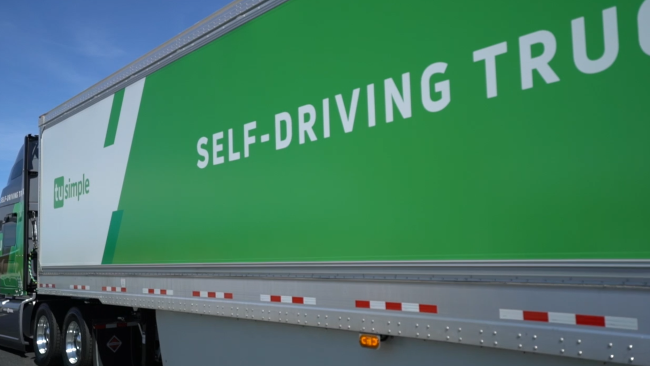 A look at a self-driving semi; industry hopes this tech combats driver shortage