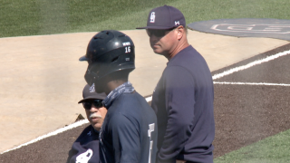 ODU baseball coach Chris Finwood