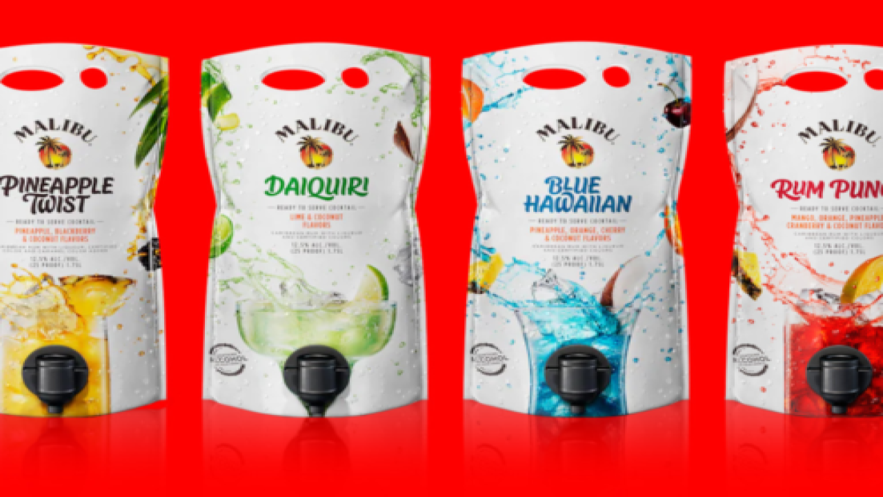 These Malibu Cocktail Pouches Are Perfect For Summer