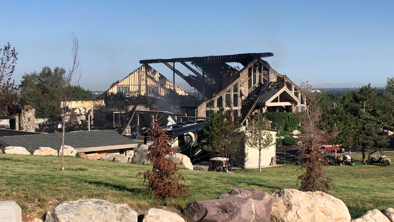 Fire destroys 25,000 square foot home in Holladay, burns for over 24hours