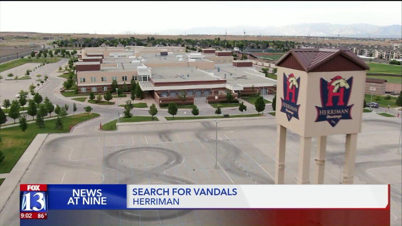 Herriman High School, seminary building and churchvandalized