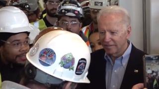 Joe Biden tells worker 'you're full of s***' during argument over gun control in Detroit