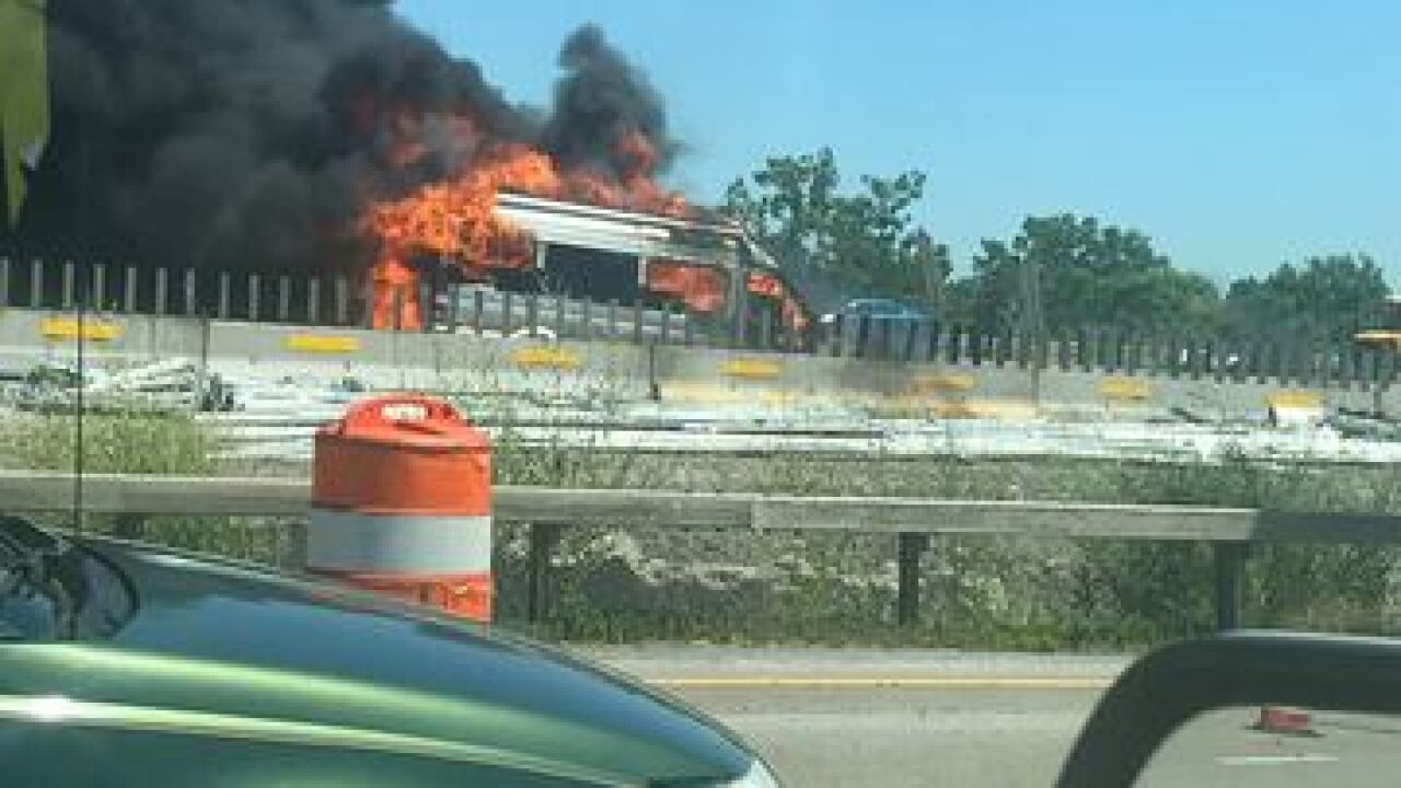 Westbound Thruway reopens after vehicle fire