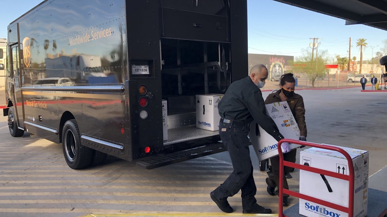 The first shipment of the coronavirus vaccine has arrived in Maricopa County. Arizona's first doses of coronavirus vaccine are going to the Phoenix and Tucson metro areas before smaller counties and tribes begin receiving shipments. Photo via Maricopa County Health.
