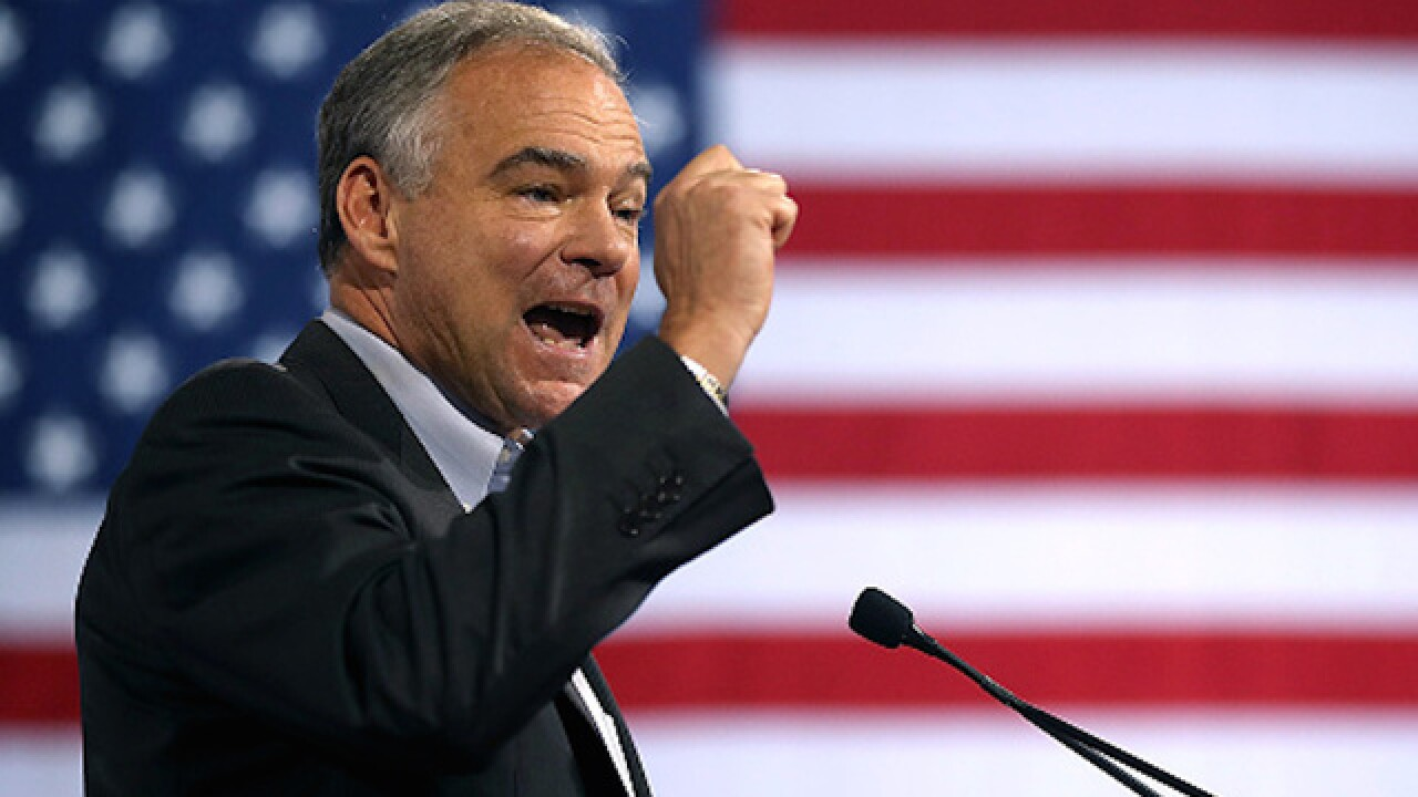 Tim Kaine says he won't run for president in 2020