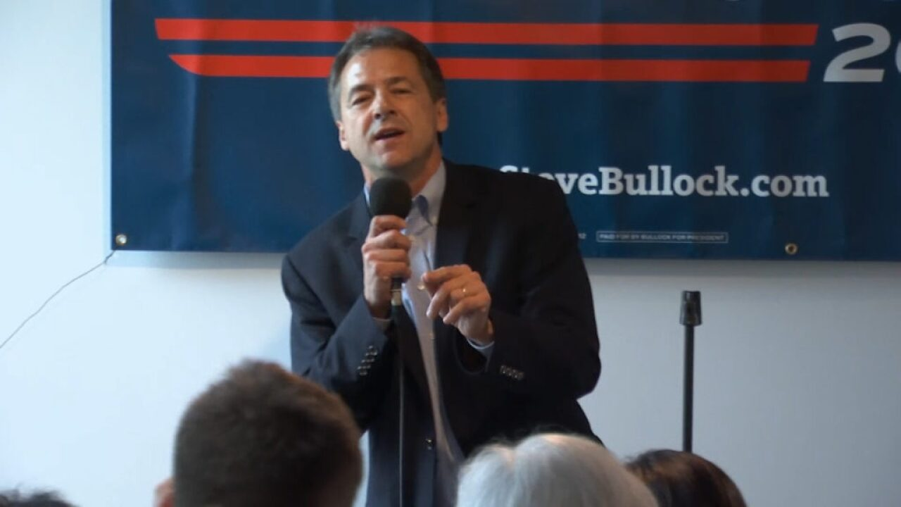 Bullock campaigning for president in Dubuque, Iowa, in May