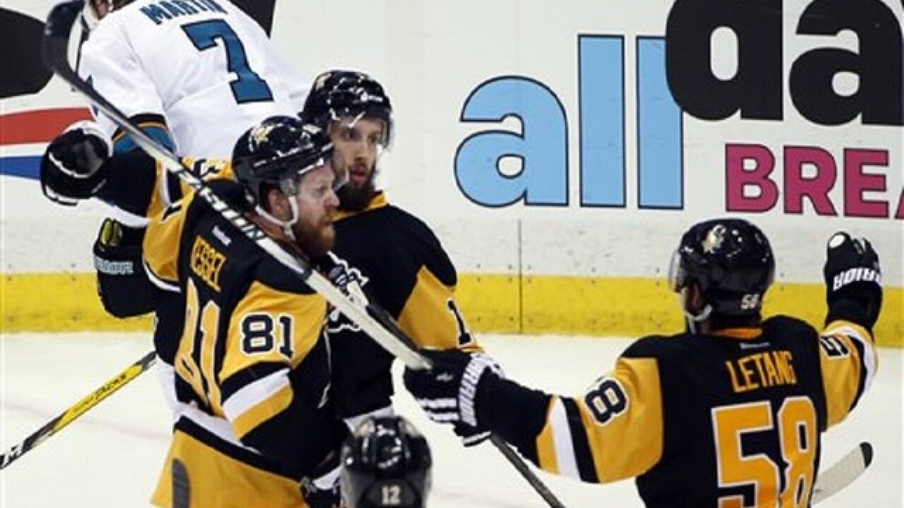 Game 1: Penguins edge Sharks 3-2 in Stanley Cup