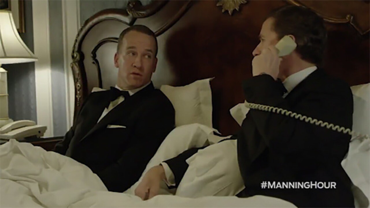Peyton is 'embarrassing' the Manning family in funny skit