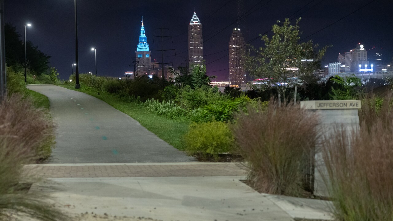 Towpath trail in Cleveland