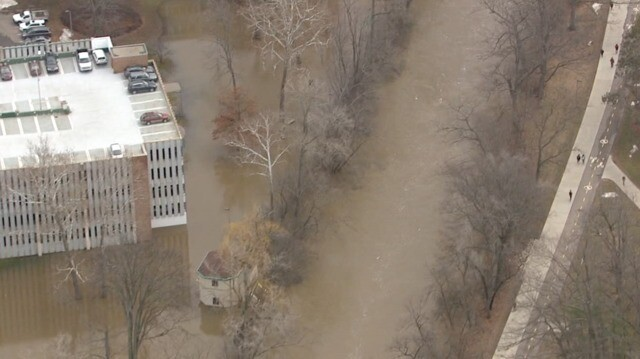 Michigan State Campus >> Photo Gallery Flooding On The Campus Of Michigan State