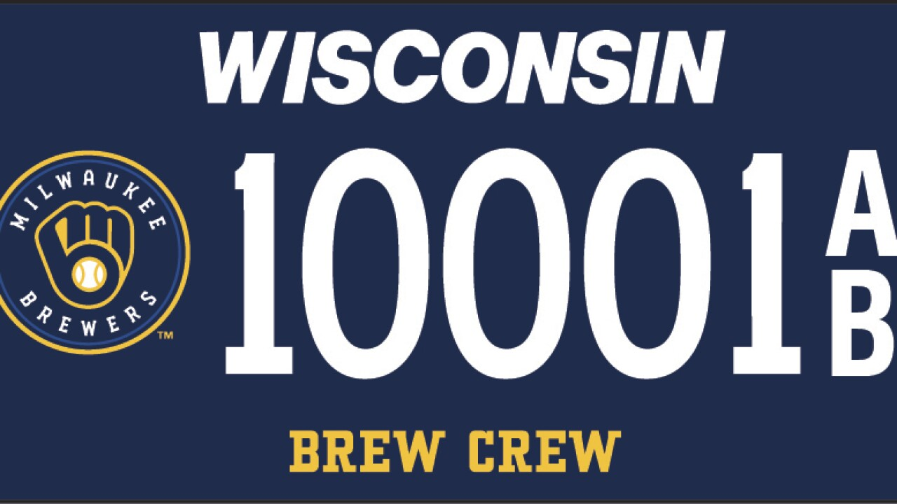 DMV releases new Brewers license plates for Wisconsin drivers
