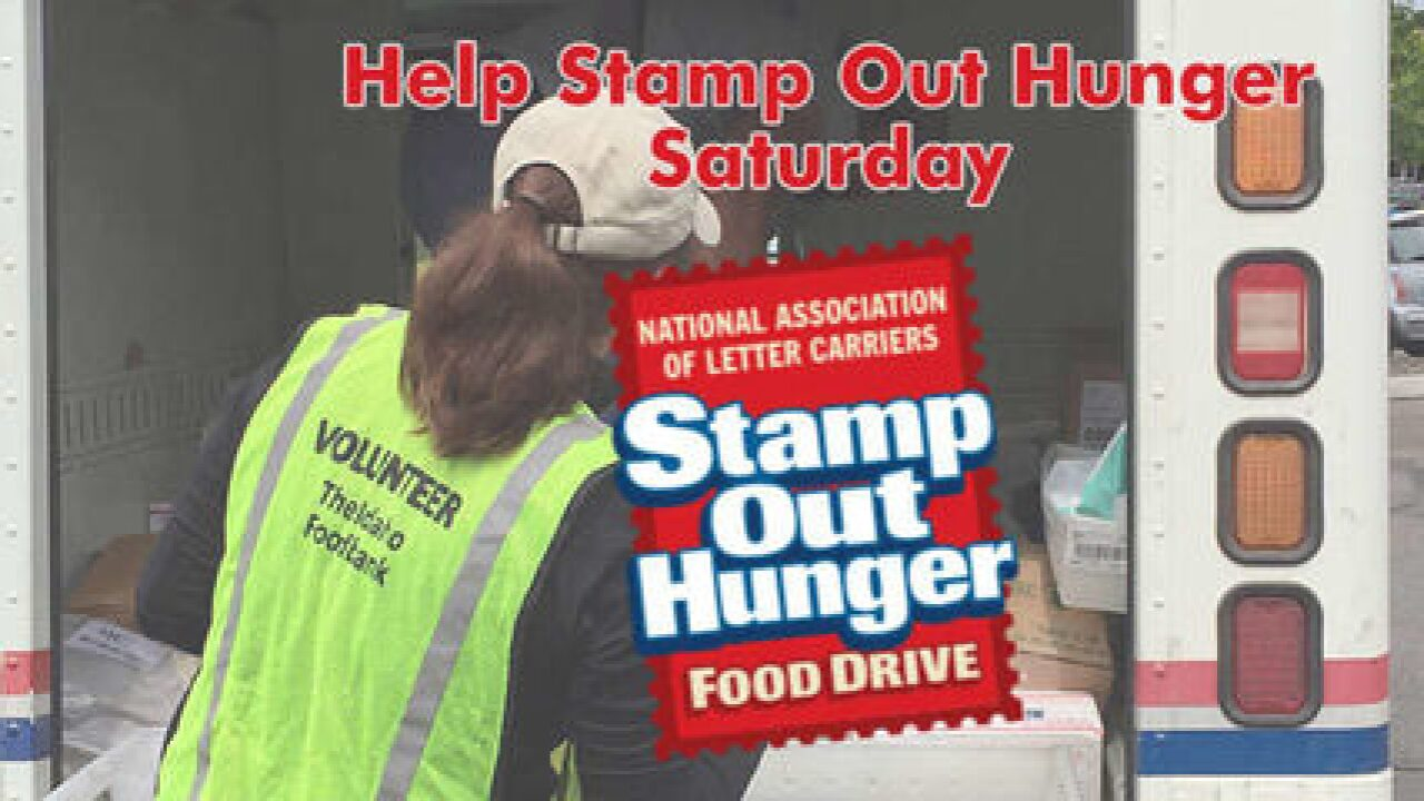 Stamp Out Hunger food drive this Saturday