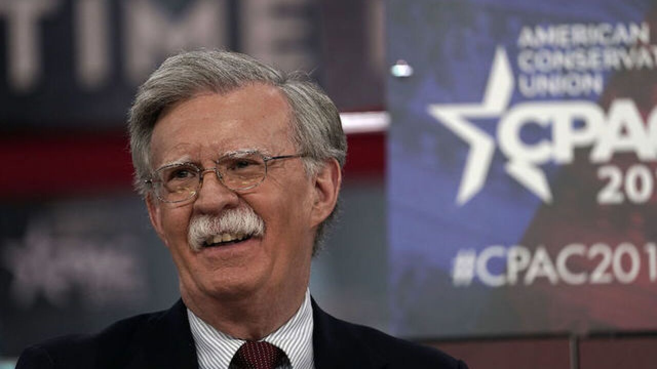 Trump confirms Bolton will fill national security adviser role