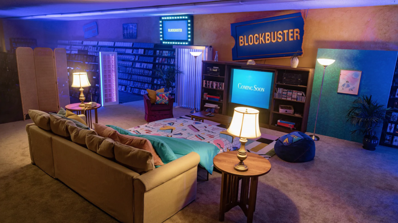 Last Blockbuster Video hosting a sleepover on Airbnb