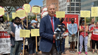 Comptroller Peter Franchot joins rally against Gov. Hogan's decision to cut enhanced unemployment benefits (June 4, 2021)