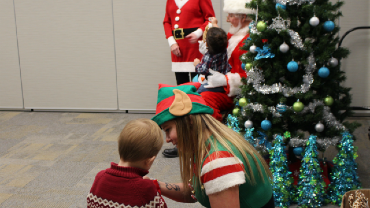 Shriners hand out gifts to kids at big Christmas