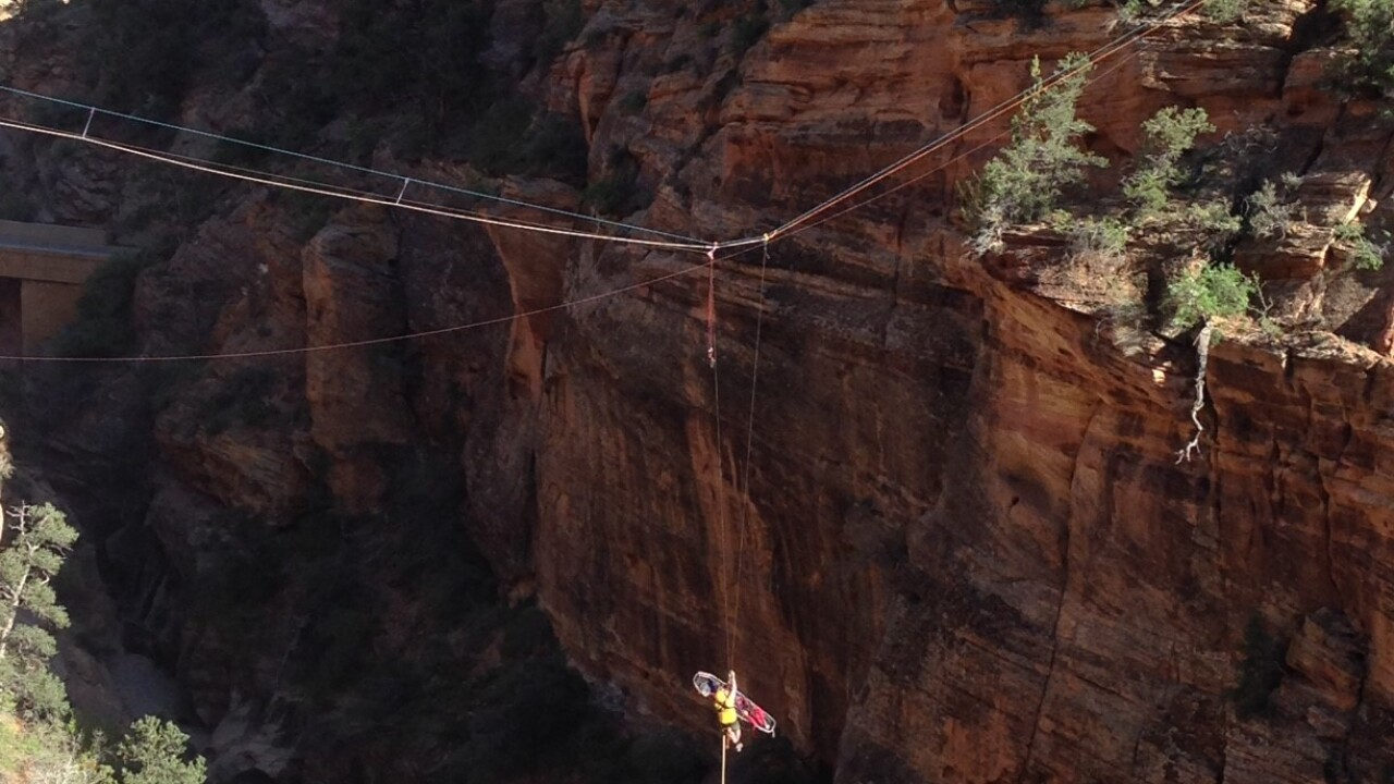 Search and rescue extracts man from bottom of canyon at Zion National Park