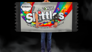 Skittles giving away Zombie Skittles costume that releases 'aroma of rotten zombie'