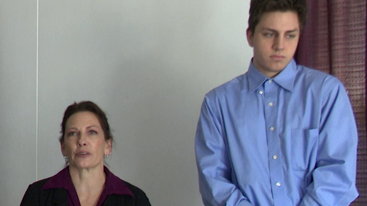 Jennifer Daniels and her son Michael