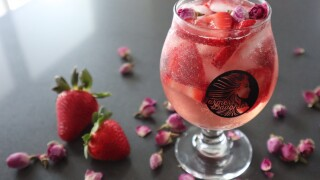Farmer's Daughter rose themed cocktail for spring