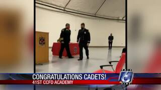 Pinning ceremony adds 25 new firefighters