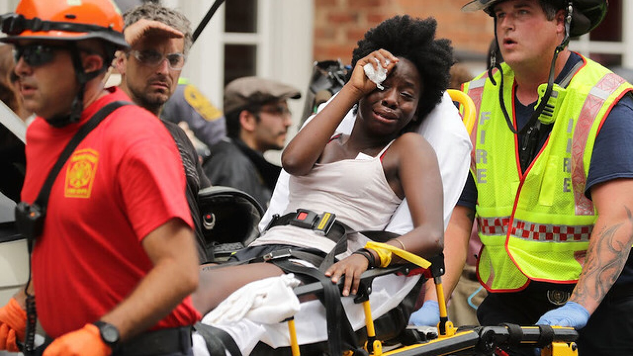 Vehicle hits protesters at Charlottesville rally