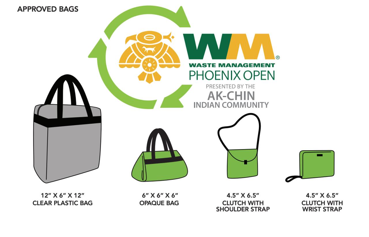 WM Phoenix Open approved bags