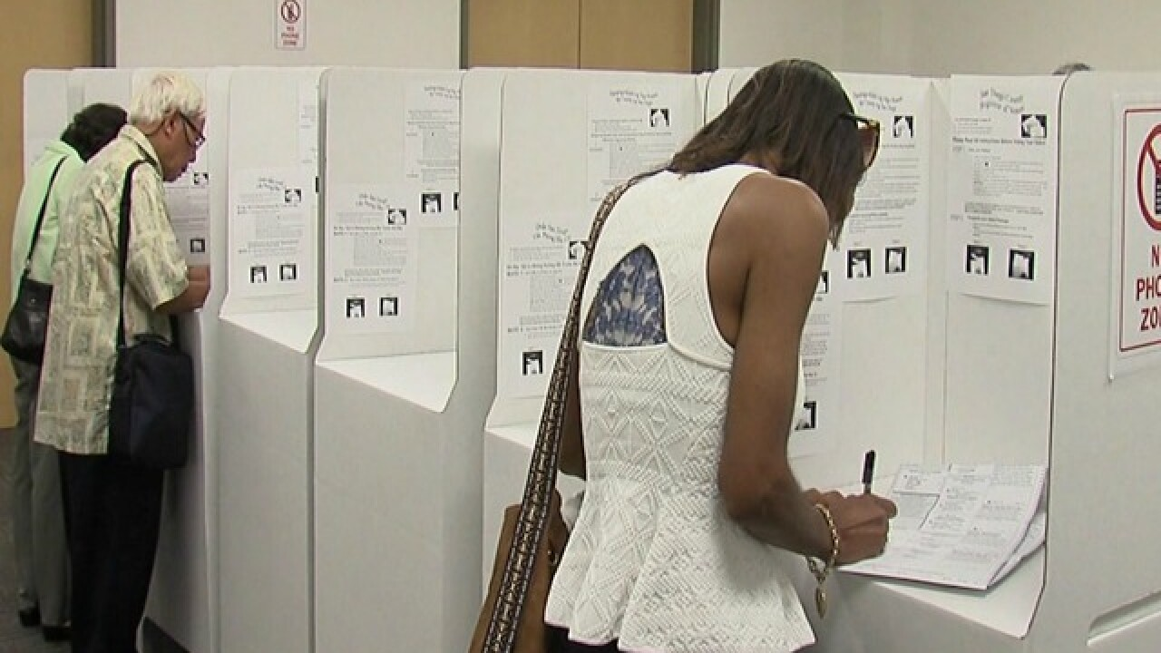 Voters taking to the polls