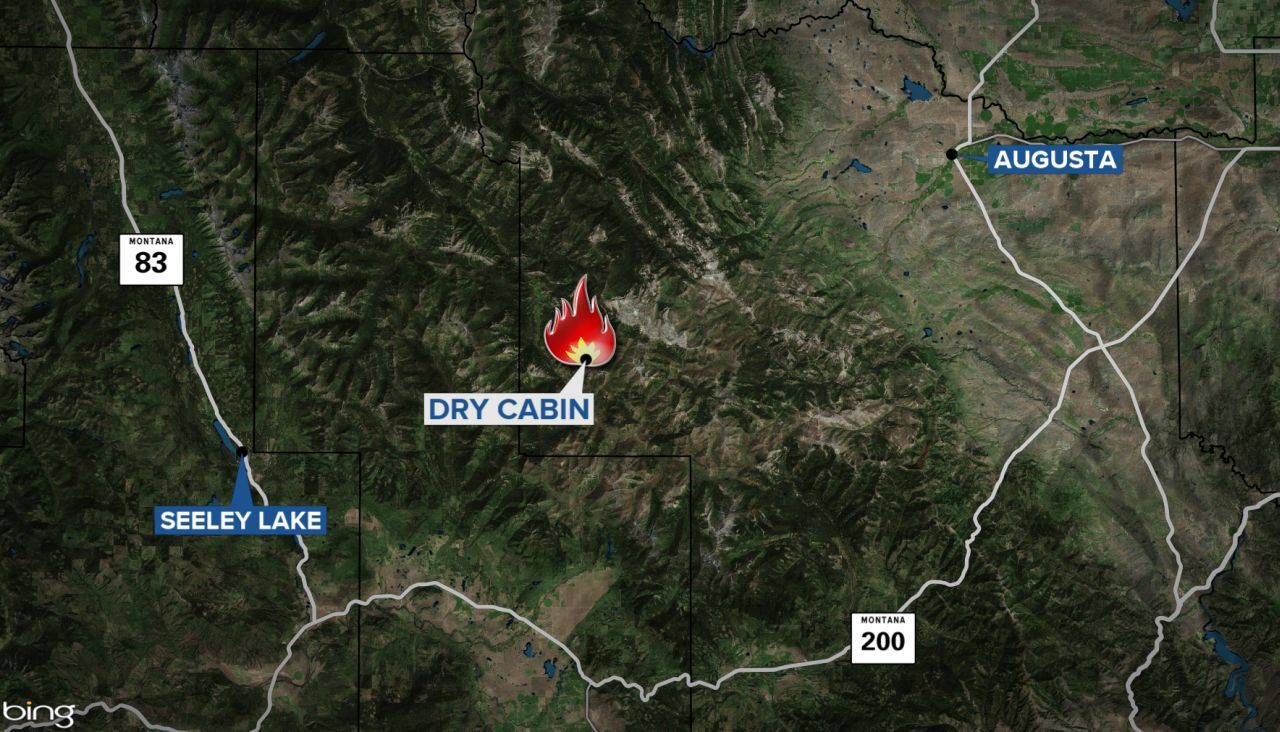 dry cabin fire map
