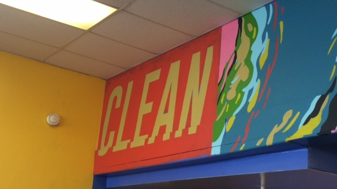 Laundromat gets a street art makeover