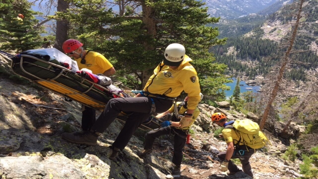 Hiker rescued after being trapped by boulder