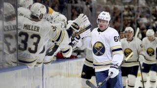 Victor Olofsson scores twice as Sabres top Blue Jackets 4-3 in OT
