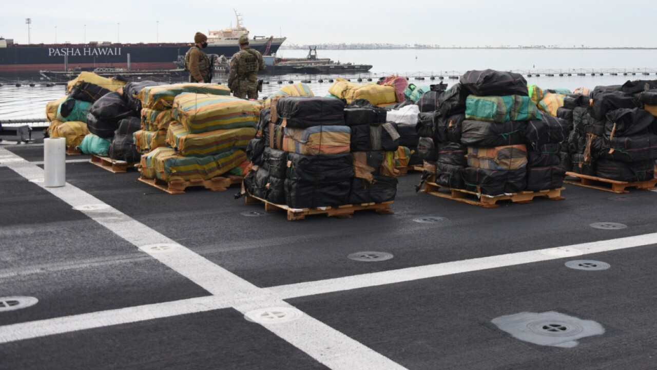 drugs coast guard navy offload san diego